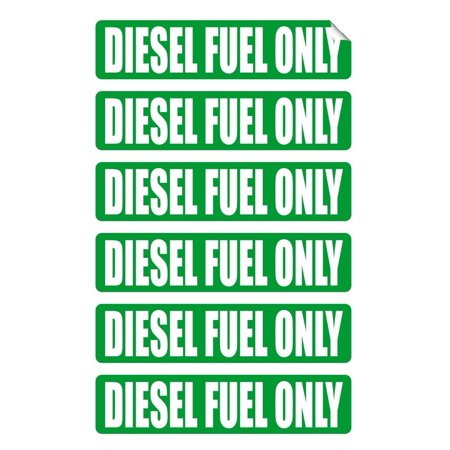 Labels Stickers Decals - 6 pack DIESEL FUEL ONLY Decals / Stickers / Labels / Markers Fuel Gas