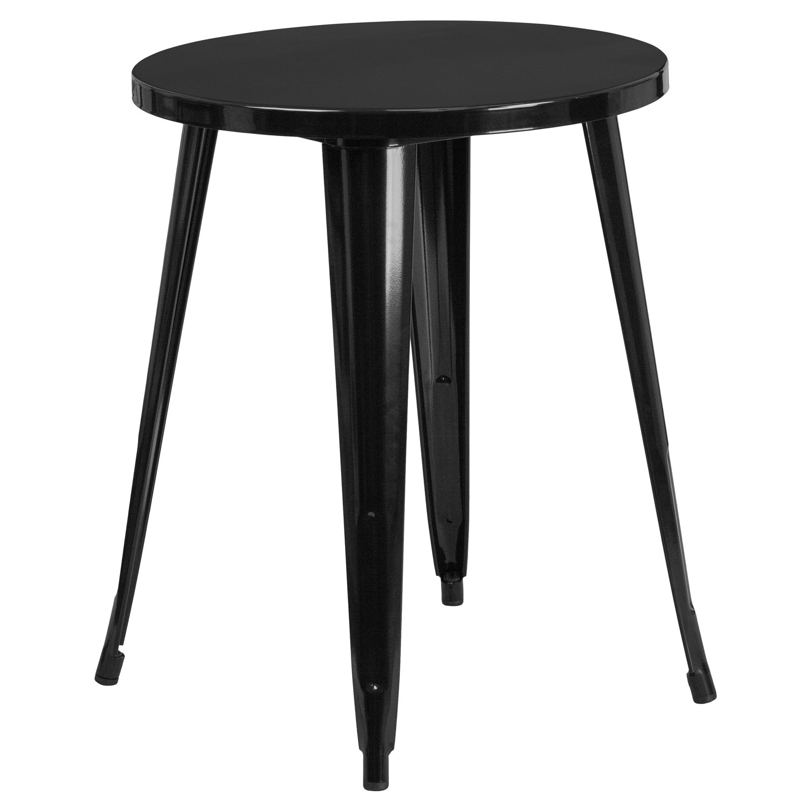Flash Furniture 24'' Round Metal Indoor-Outdoor Table, Multiple Colors