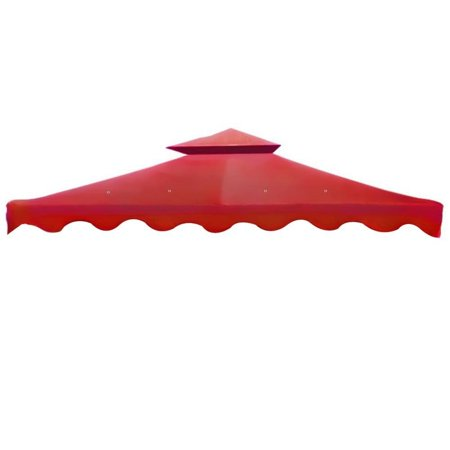 All Weather Heavy Duty Red Color 2 Tier Backyard Patio Sun Shade 10x10