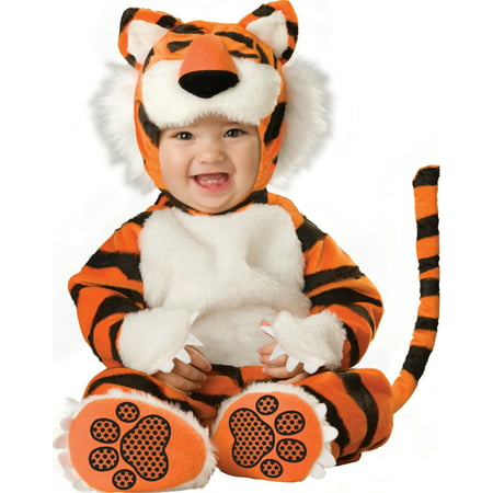 Ty Animal Halloween Costumes (Tiny Tiger Stripped Kitten Cat Infant Baby Animal Halloween)