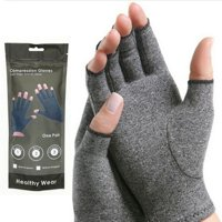 Unisex Arthritis Gloves - Rheumatoid Compression Hand Glove for Osteoarthritis- Arthritic Joint Pain Relief - Carpal Tunnel Wrist Support - Open Finger, Fingerless Thumb for Computer Typing
