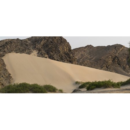 Sand Dunes In Hoanib Skeleton Coast National Park Kunene Namibia Canvas Art   Panoramic Images  27 X 9