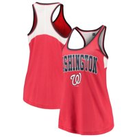 Washington Nationals 5th & Ocean by New Era Women's Baby Jersey Racerback Tank Top - Red