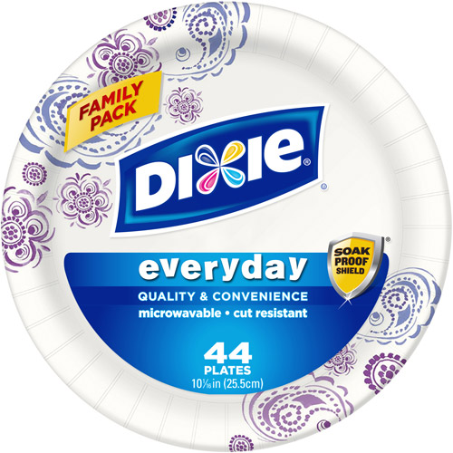 "Dixie Everyday Paper Plates, 10.0625"", 44 count"