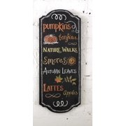 """23.75"""" Thanksgiving Fall Harvest Word Chalkboard Style Hanging Wall Sign Decoration"""