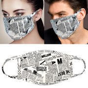 4Pcs Set Unisex Face Mask Paris Letters Print Protect Reusable Comfy Washable Made In USA