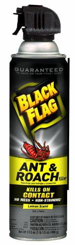 Black Flag 11068 Ant and Roach Killer Crack and Crevice Aerosol, Lemon Scent, 17.5-Ounce