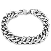 Stainless Steel Large Franco Chain Bracelet