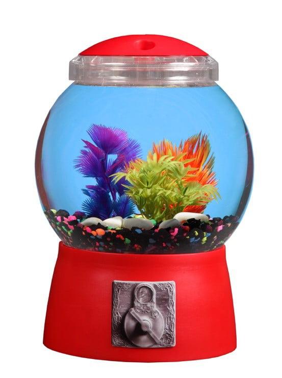 "Aqua Culture 1.5-Gallon Gumball Aquarium with LED Lighting, 9""DIA x 13""H by Koller Products"
