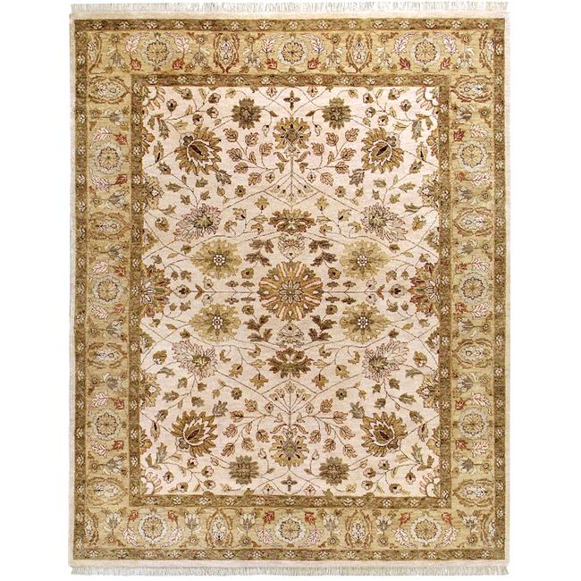 Due Process Stable Trading Thana Tabriz Ivory & Ivory Area Rug, 8 x 10 ft.