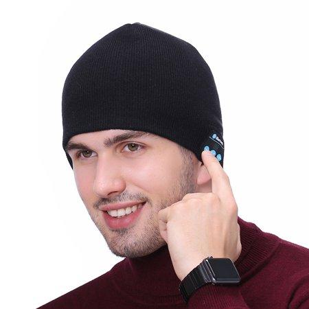 7c801ffacc6 Women Men Winter Warm Wireless Bluetooth Beanie Hat with Built-In Headphones  - Black - Walmart.com