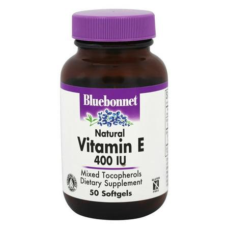 Bluebonnet Nutrition - Vitamine E naturelle mixte tocophérols 400 UI - 50 Gélules