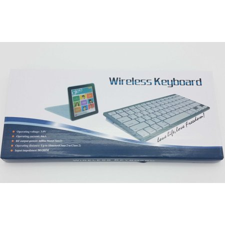 Universal Bluetooth 3.0 Slim Keyboard for Android Windows iOS Tablet PC Laptop-silver  color