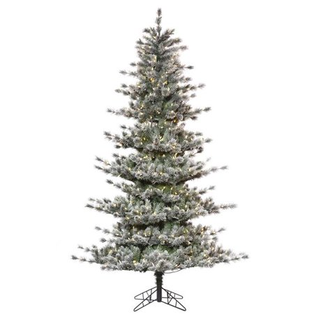 7.5 ft. x 56 in. Frosted Lacey Christmas Tree with 700 Warm White Dura Light (56 700)