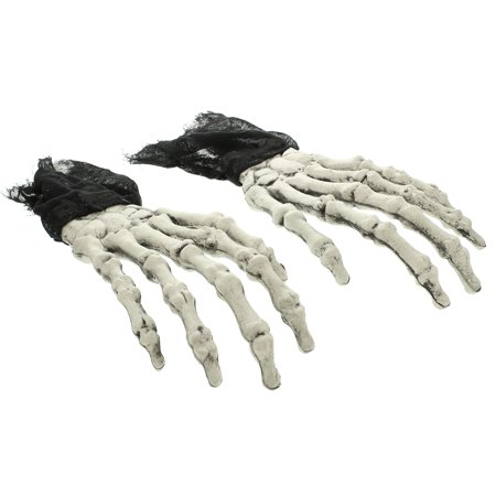 Halloween Haunters Scary Oversized Zombie Skeleton Hands Pair - Prop Decoration - Hand Skeleton