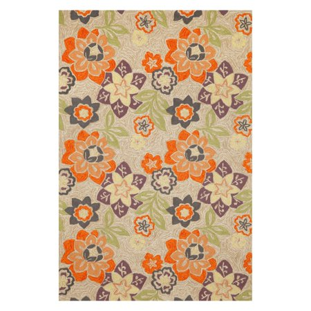 Liora Manne Import Co Ravella Floral Indoor / Outdoor Rugs - Neutral
