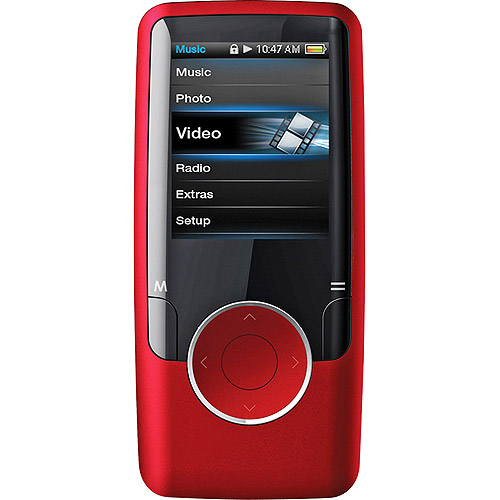 Coby 4GB Video MP3 Player, Red