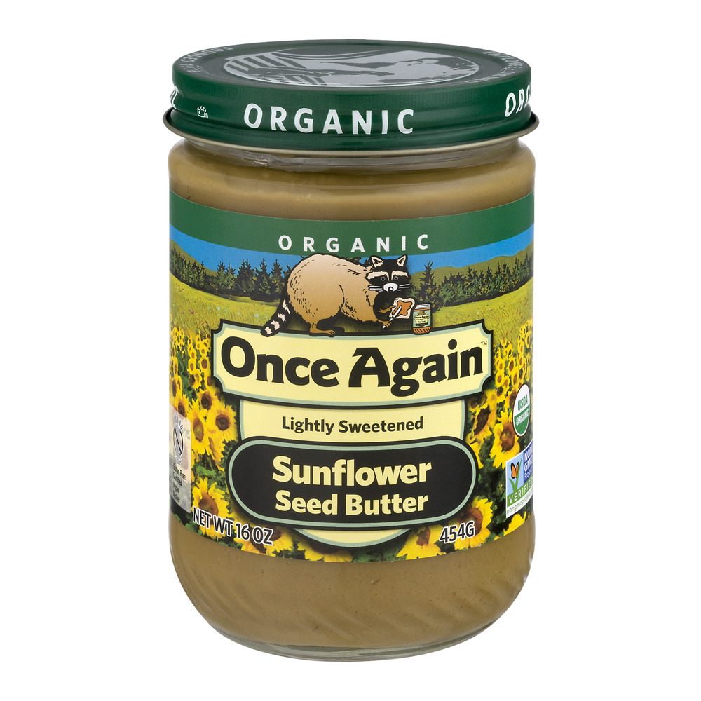 Once Again Organic Sunflower Seed Butter Lightly Sweetened, 16.0 OZ