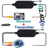 TSV 2.4G Wireless Color Video Transmitter & Receiver for Car Rear Backup View Camera
