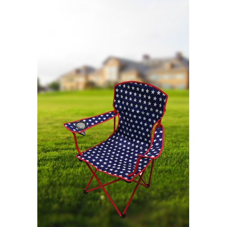 Ozark Trail Star Chair,Patriotic Theme Folding Chair