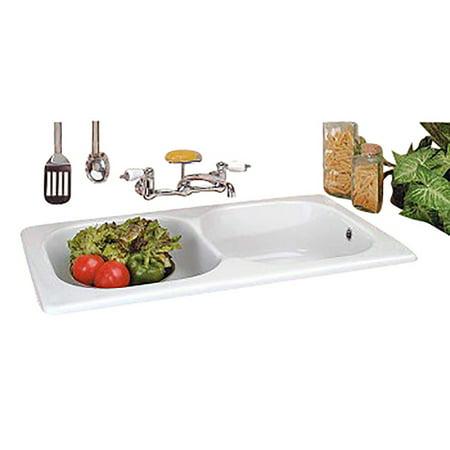 Porcelain Counter (Double Basin Italian Porcelain Drop-In Counter Kitchen)