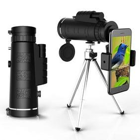 PORTHOLIC 4K Telescope Portable 10-300X40mm Super Telephoto Zoom Monocular Telescope with Anti-Shake Tripod for Phone