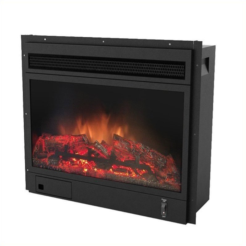 Corliving Electric Fireplace in Black