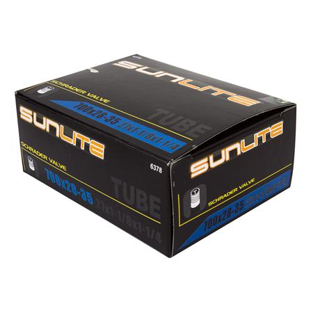 Sunlite Bicycle Inner Tube 700x28-35c Schrader Valve 32mm Road Hybrid Comfort CX