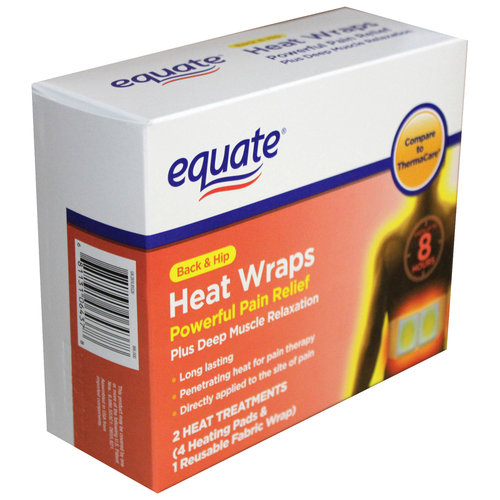 Equate Back & Hip Heat Wraps, 2 count