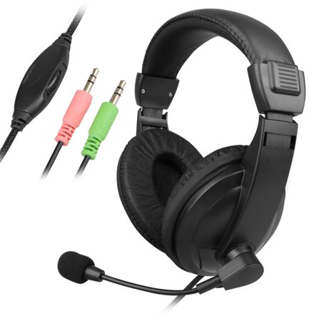 Wired Handsfree Stereo Gaming Headset With Microphone For PC Computer PS4 XBOX NS