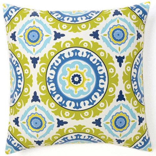 Jiti Suzani Henna Square Cotton Pillow
