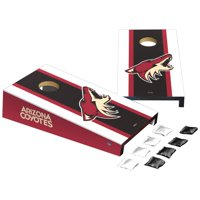 Arizona Coyotes Stripe Design Desktop Cornhole Game Set