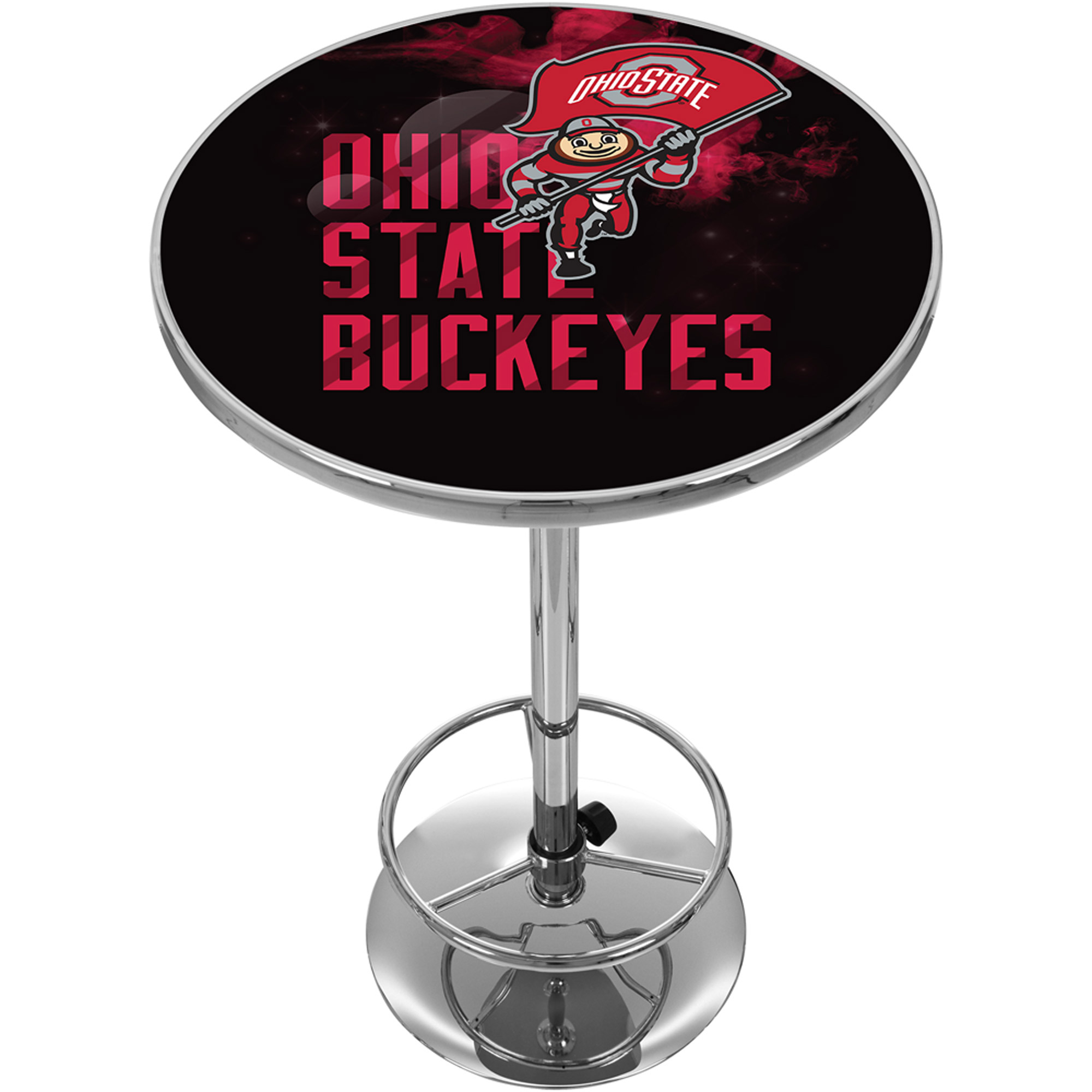 Ohio State Smoking Brutus Chrome Pub Table