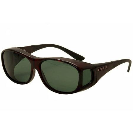 ee3e74652ac Cocoons - Cocoons Slim Line C4013G C 4013 G Black Cherry Flex2Fit Polarized  Sunglasses - Walmart.com
