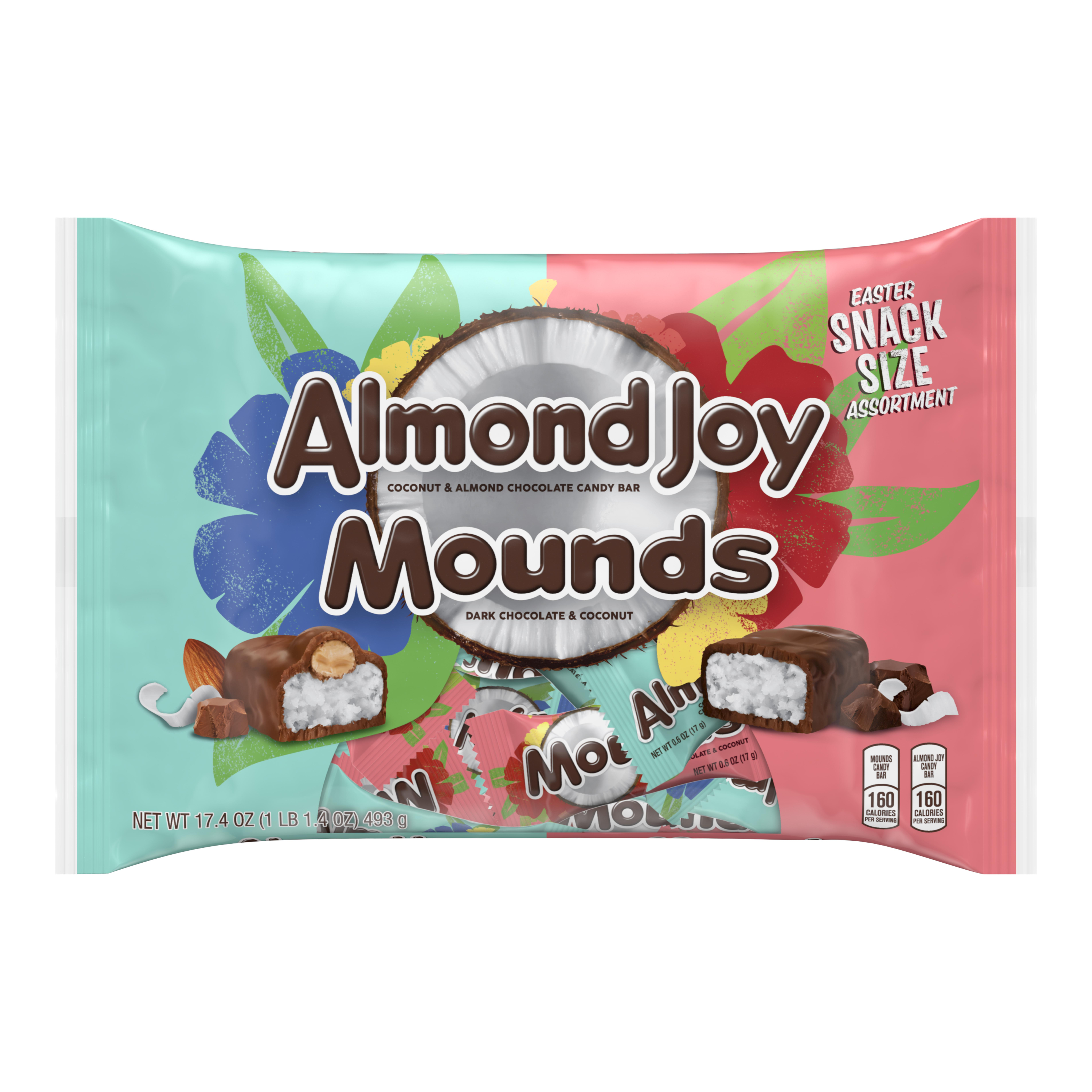 Almond Joy, Mounds, Coconut and Chocolate Snack Size Easter Candy Assortment, 17.4 Oz