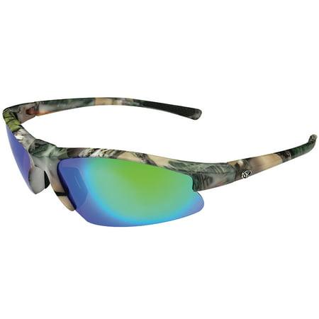 Yachter's Choice 41693 Tarpon Polarized Sunglasses with Green Mirror Lenses & Green Camo Frame