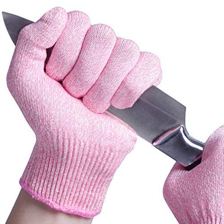 EVRIDWEAR Cut Resistant Gloves, Food Grade Level 5 Safety Protection Kitchen Cuts Gloves For cutting, Chopping, Fish Fillet, Mandolin Slicing and Yard-Work (Small,
