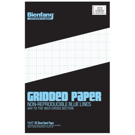 bienfang designer grid paper 50 sheets 11 inch by 17 inch pad