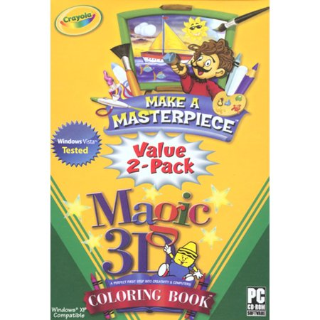Crayola Make a Masterpiece / 3D Coloring Book Value 2-Pack- XSDP ...