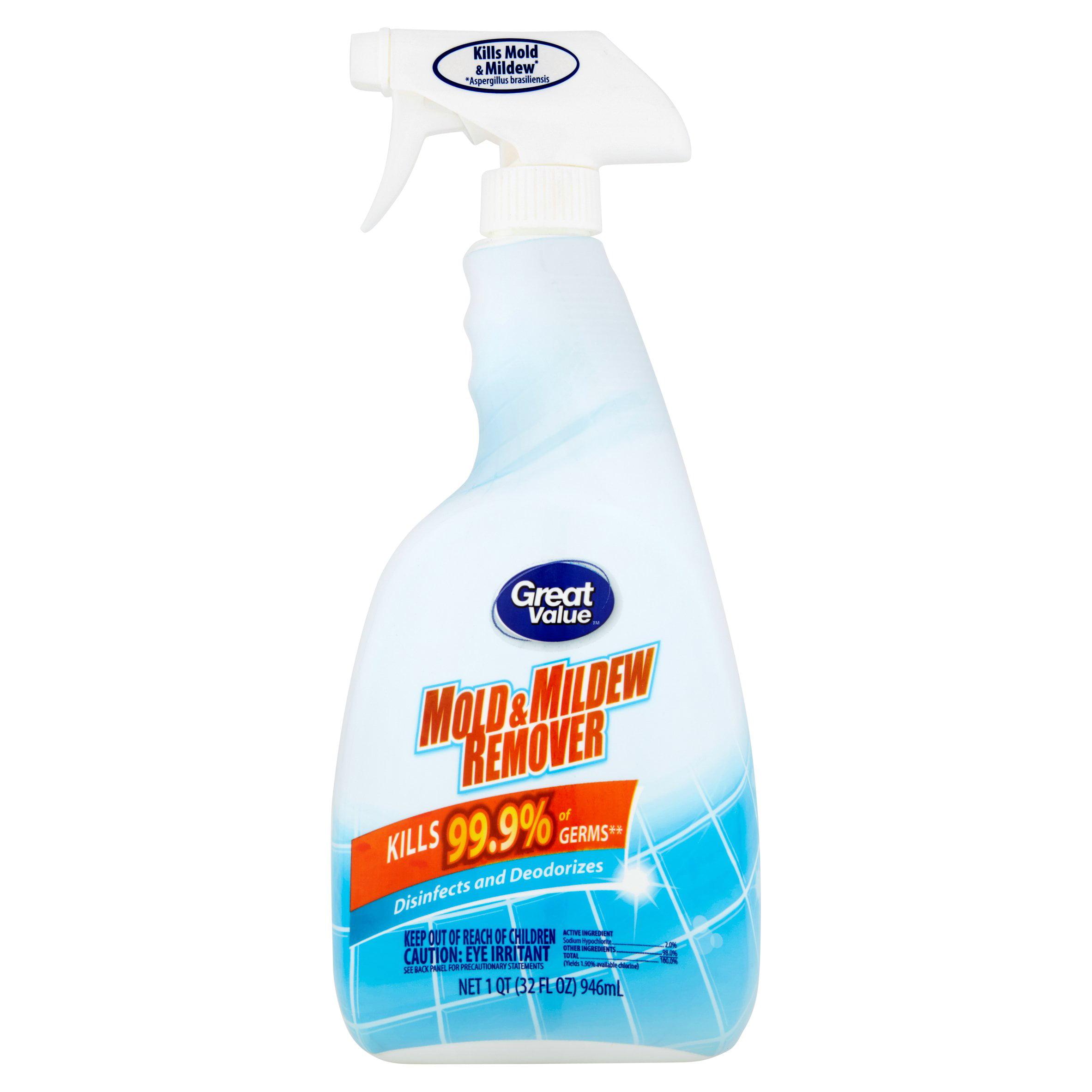 Great Value Mold & Mildew Remover, 1 qt - Walmart.com