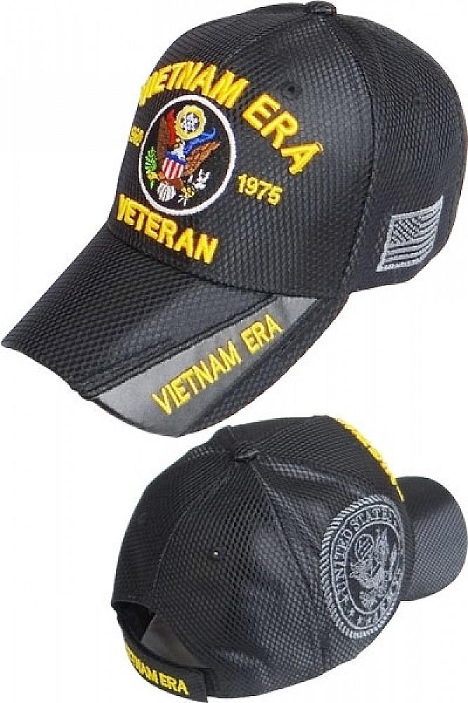 5619c1f10eec4 ... product image vietnam era army veteran shadow jersey mesh mens cap  black adjustable