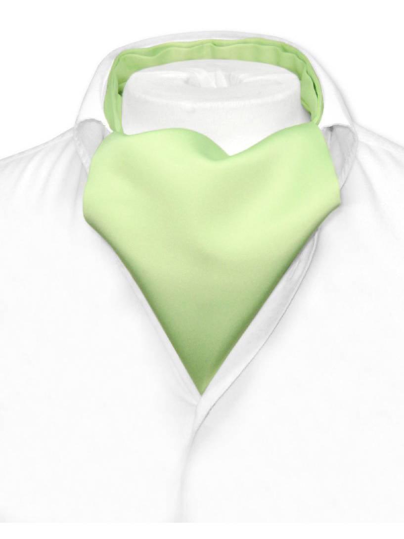 New Vesuvio Napoli Men/'s Polyester Ascot Cravat Necktie Wedding Solid LIght Blue
