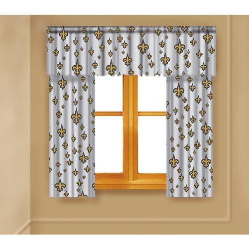 NFL New Orleans Saints Window Curtain Panels