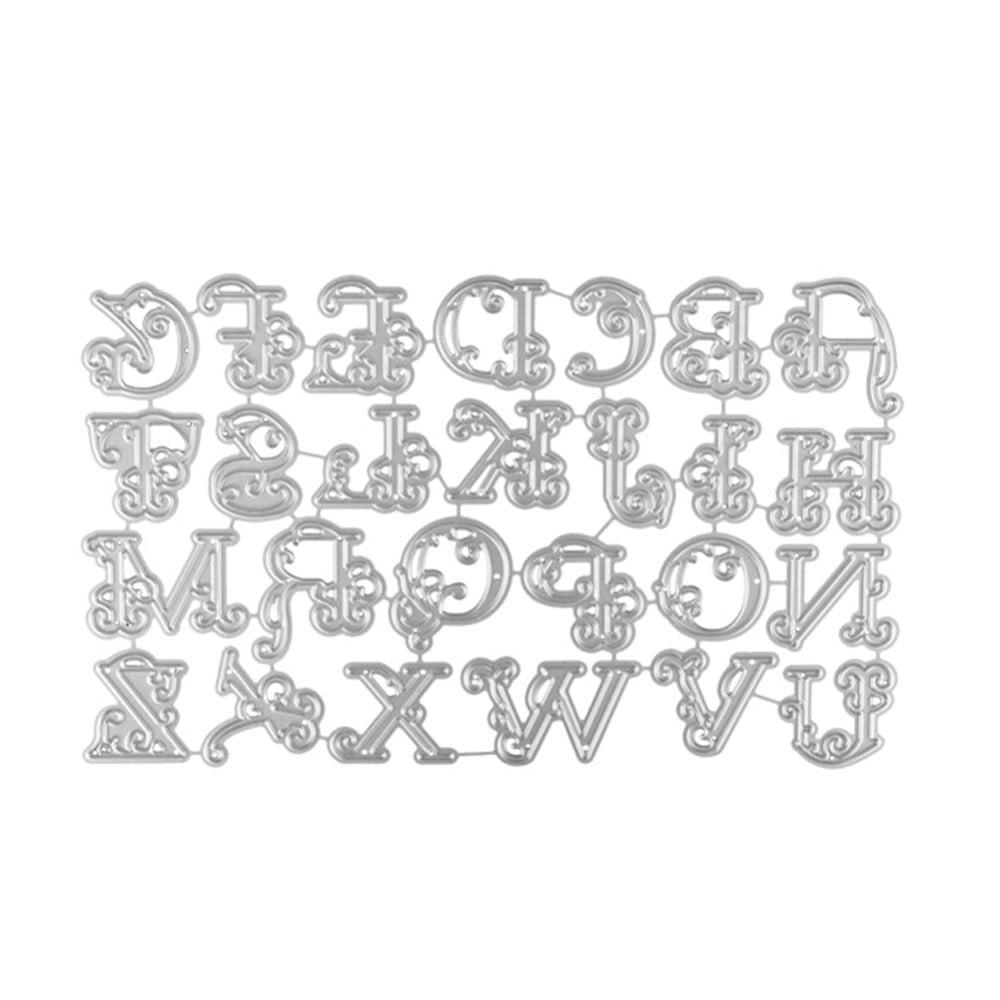 Carbon Steel Alphabet 26 Letters Cutting Dies Stencils Set for DIY Scrapbooking