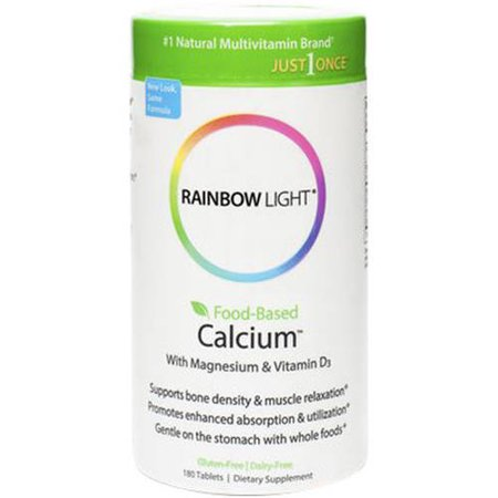 rainbow light calcium one food base 90 tb. Black Bedroom Furniture Sets. Home Design Ideas