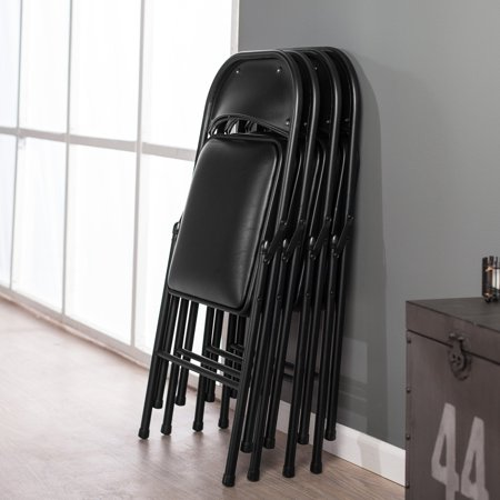 Astonishing Meco Sudden Comfort Padded Folding Chair 4 Pack Theyellowbook Wood Chair Design Ideas Theyellowbookinfo