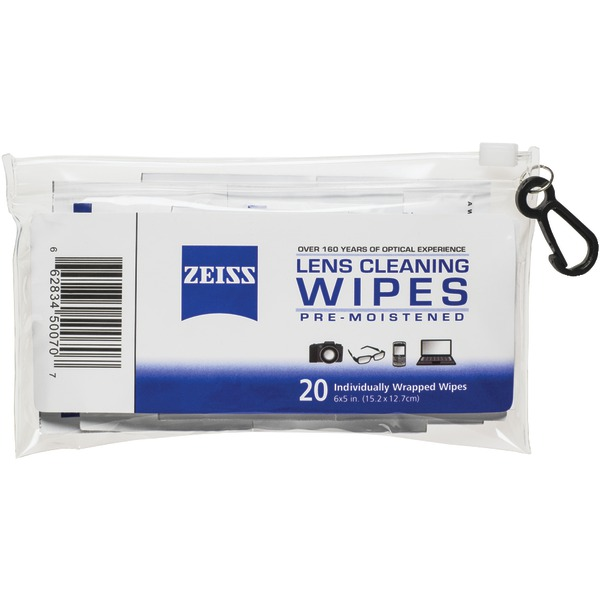 ZEISS 000000 2127 719 Portable Lens Wipes Pouch, 20-Count