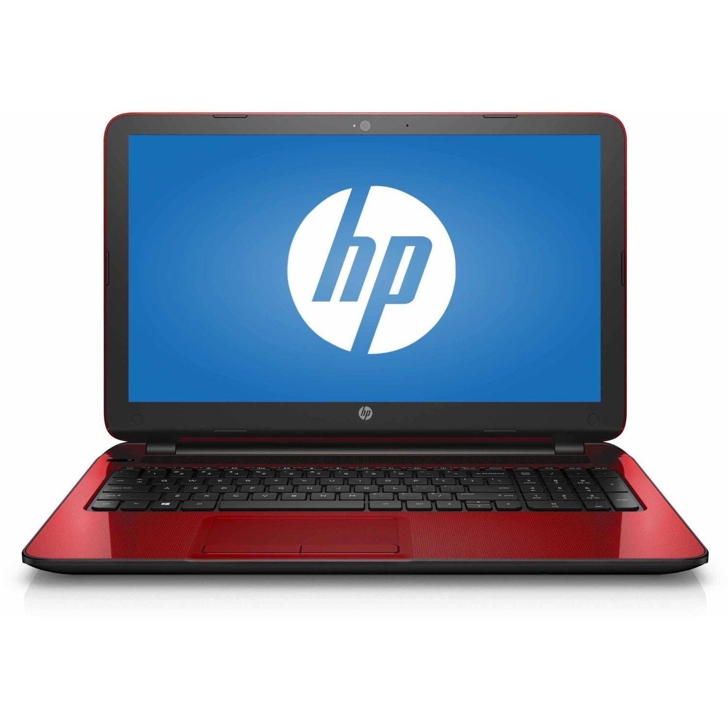 "HP 15.6"" Laptop Touchscreen , Pentium® Quad-Core N3530 2.16GHz 500GB 4GB RAM, HD Graphics, 802.11ac, DVD, Bluetooth, HDMI, Webcam, Windows 10 - Flyer Red"