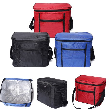 New Lunch Bag Large Insulated Tote Soft Cooler Bag with Front Pocket Double Deck Adjustable Shoulder Strap for Hiking Outdoor Picnic Work