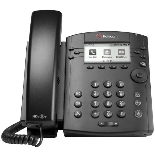 Polycom VVX 301 (2200-48300-001) 6-line Desktop Phone
